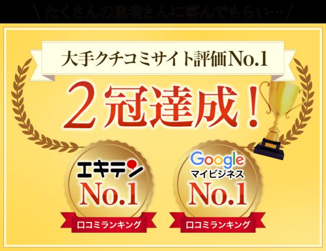エキテン googleマイビジネス 口コミNO.1